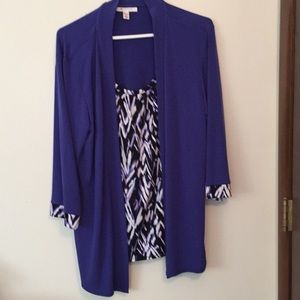 JM collection large layered top